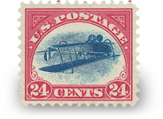 1918 Inverted Jenny Stamp